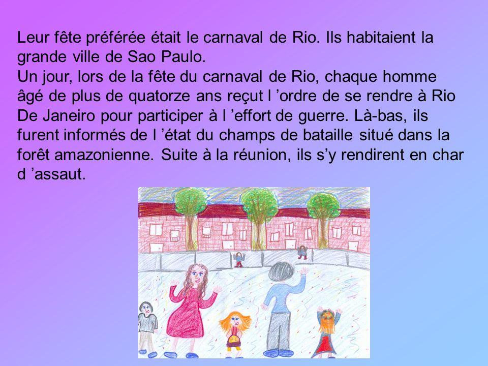 Leur fête préférée était le carnaval de Rio