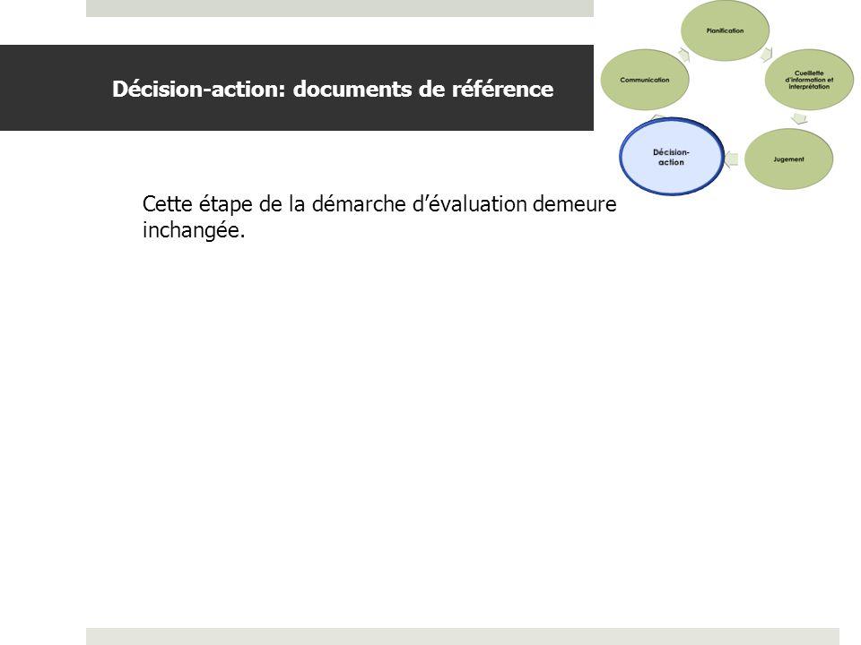 Décision-action: documents de référence