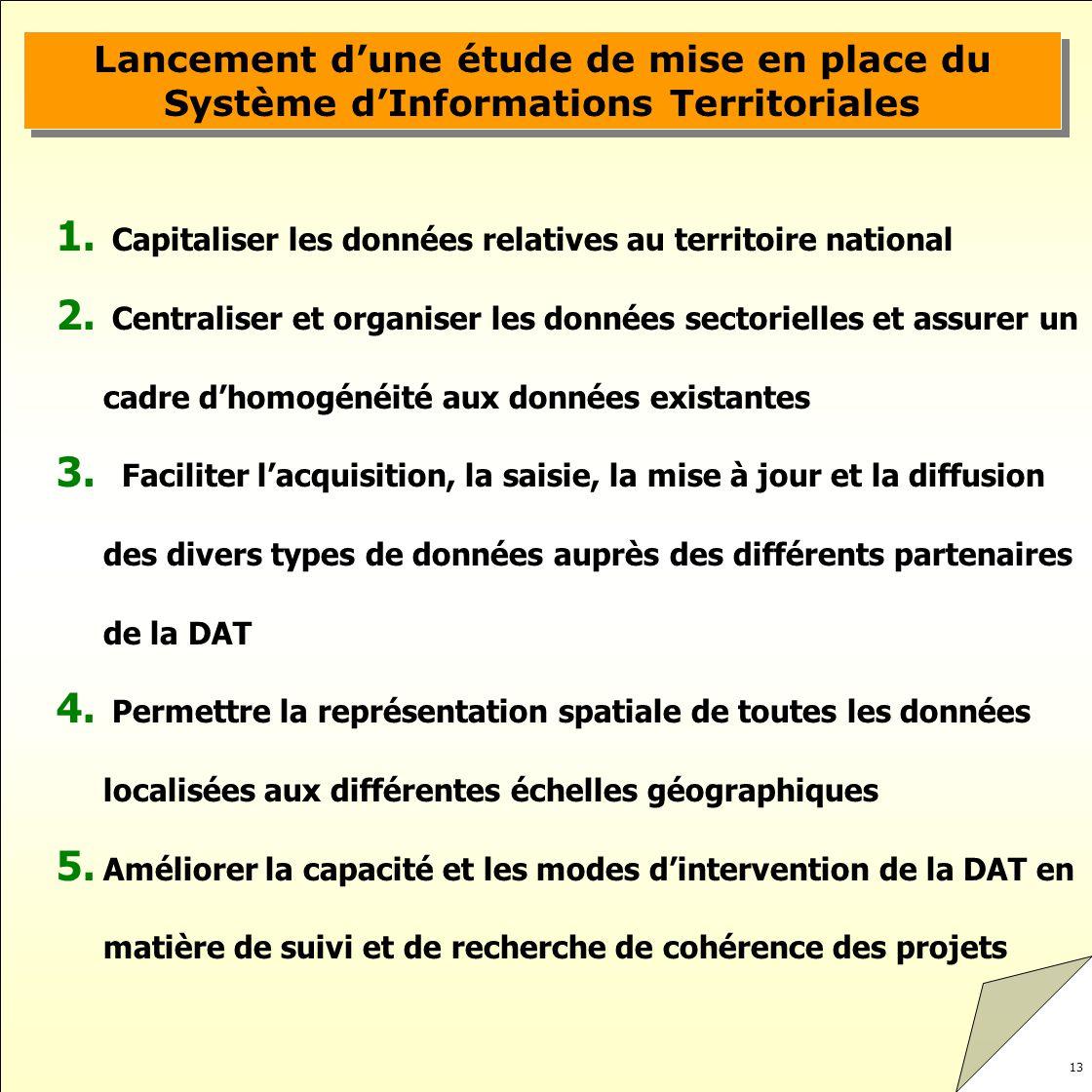 Lancement d'une étude de mise en place du Système d'Informations Territoriales