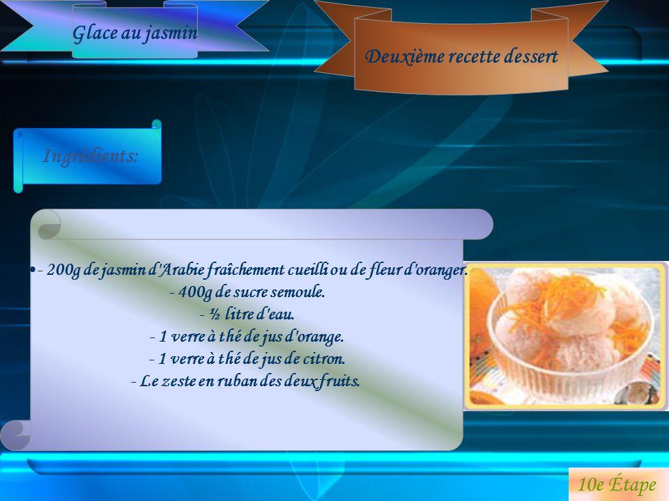Deuxième recette dessert