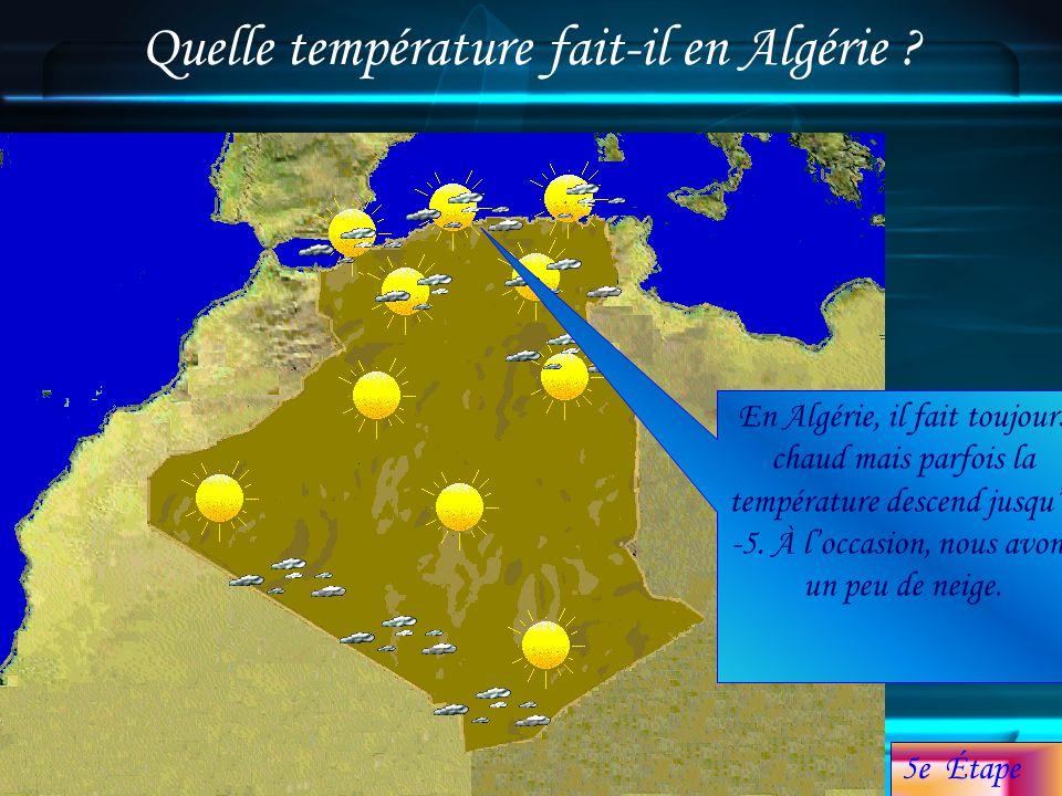 Quelle température fait-il en Algérie