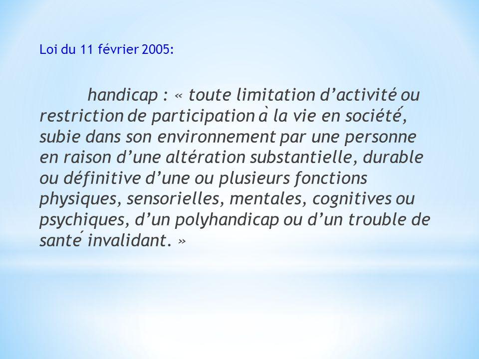 Loi du 11 février 2005:
