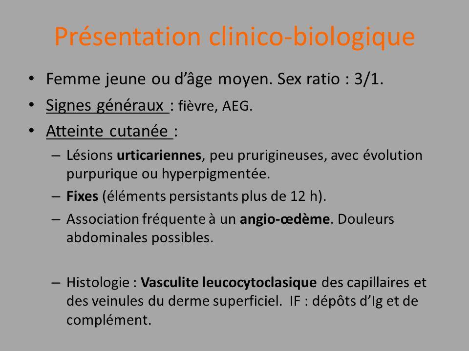 Présentation clinico-biologique