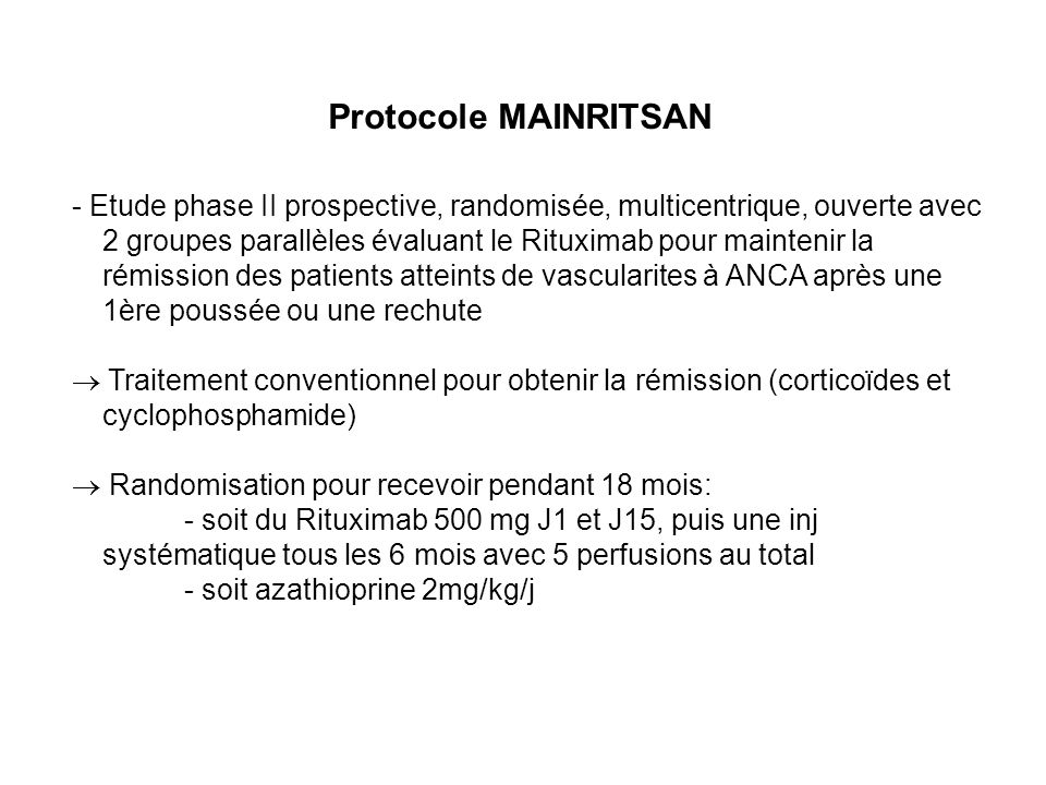 Protocole MAINRITSAN