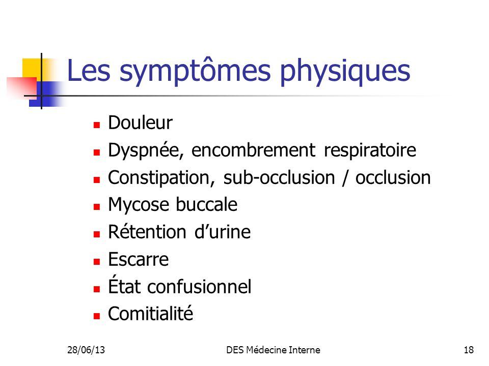 Les symptômes physiques