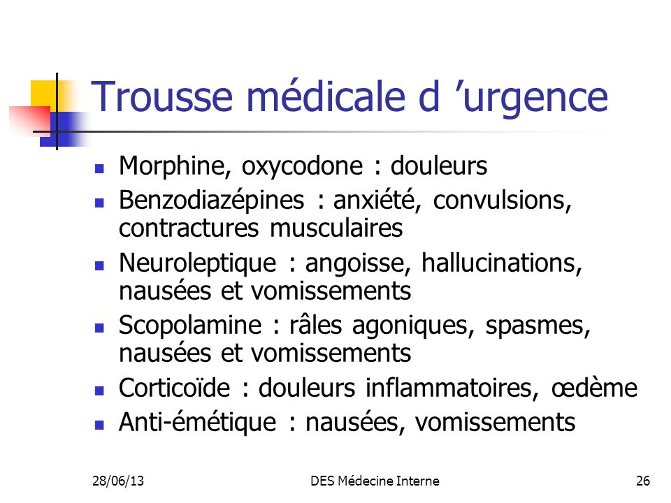 Trousse médicale d 'urgence