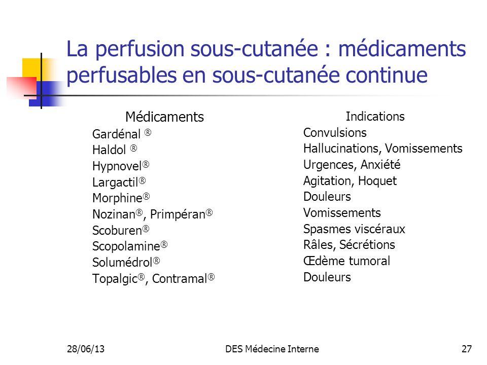 La perfusion sous-cutanée : médicaments perfusables en sous-cutanée continue