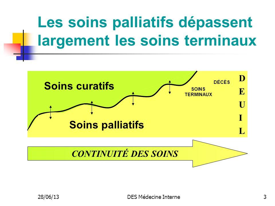 Les soins palliatifs dépassent largement les soins terminaux