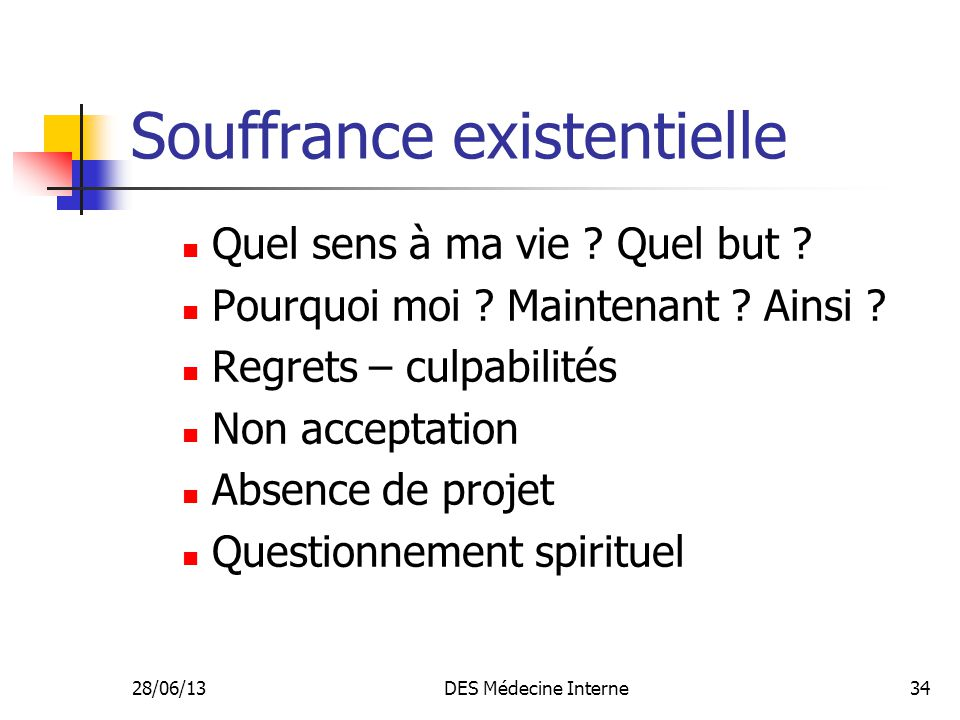 Souffrance existentielle