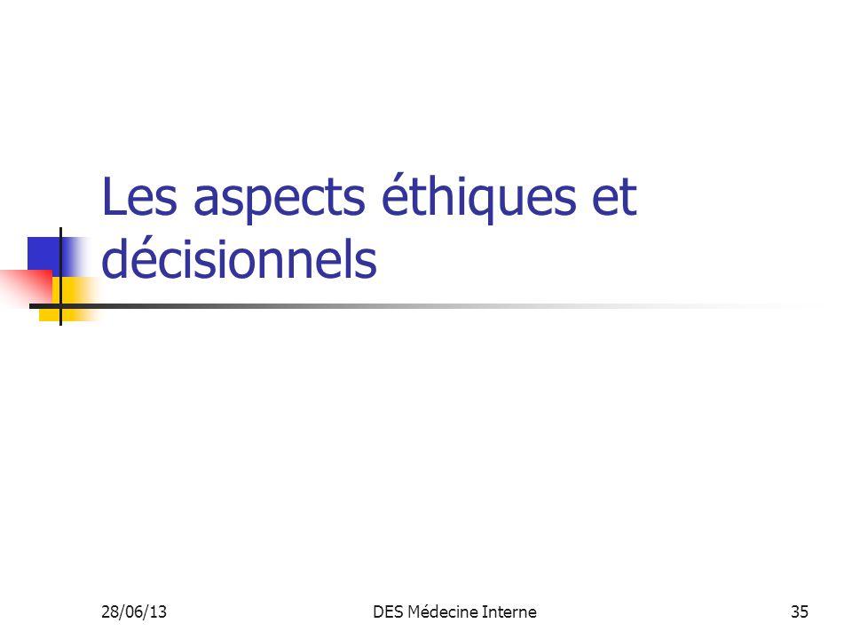 Les aspects éthiques et décisionnels