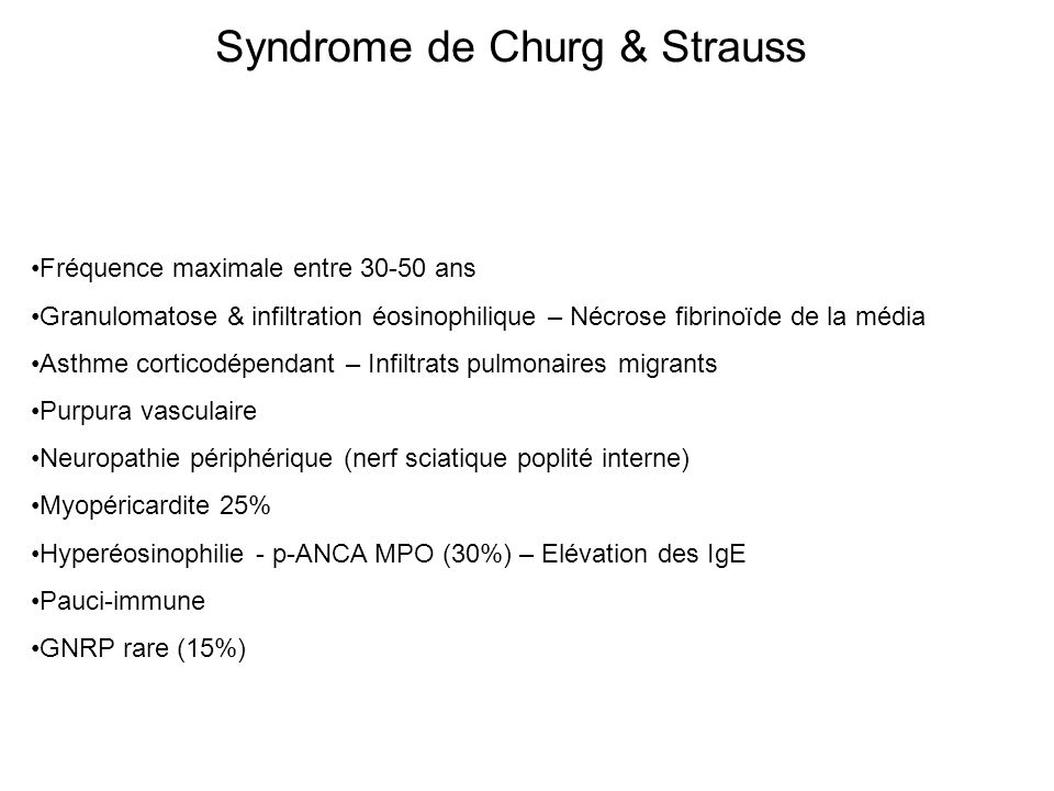 Syndrome de Churg & Strauss
