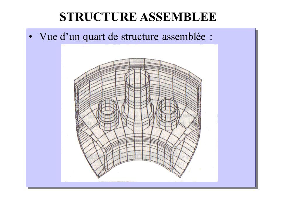 STRUCTURE ASSEMBLEE Vue d'un quart de structure assemblée :