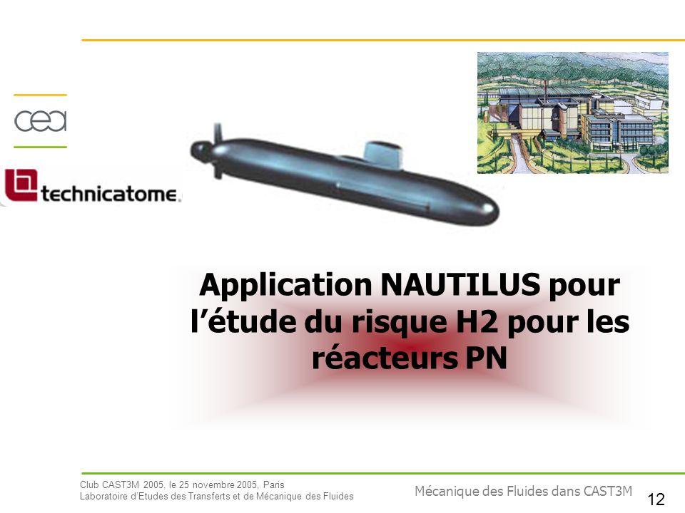 Application NAUTILUS pour l'étude du risque H2 pour les réacteurs PN