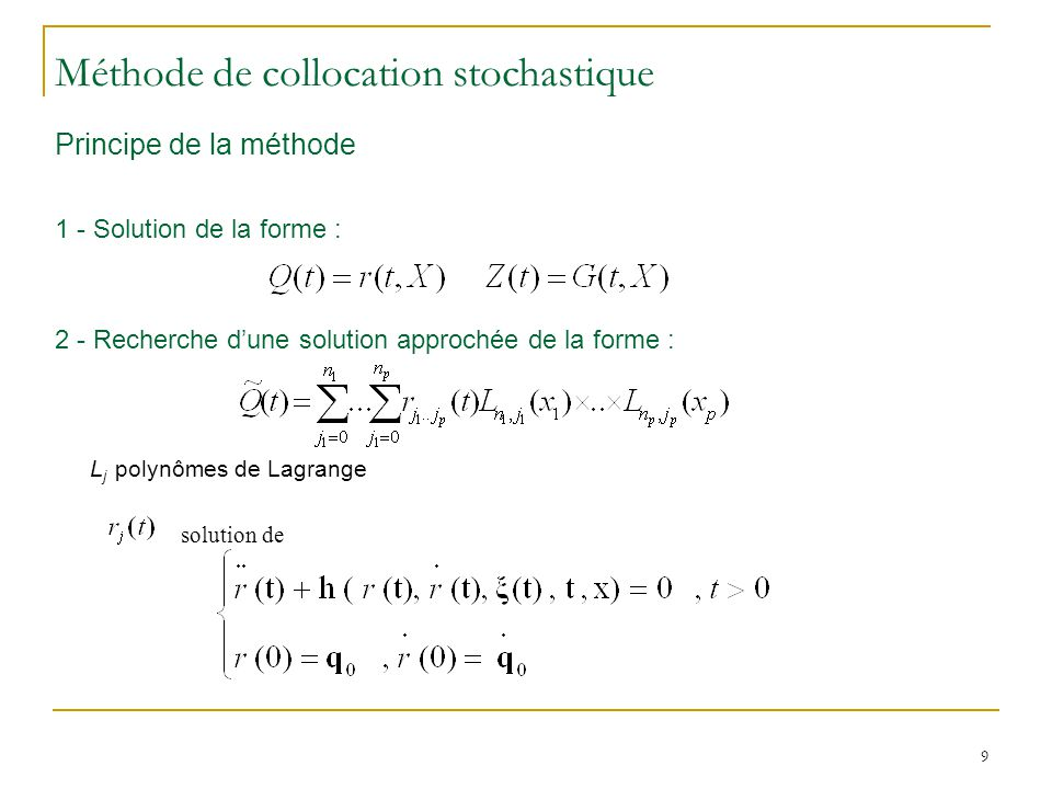 Méthode de collocation stochastique