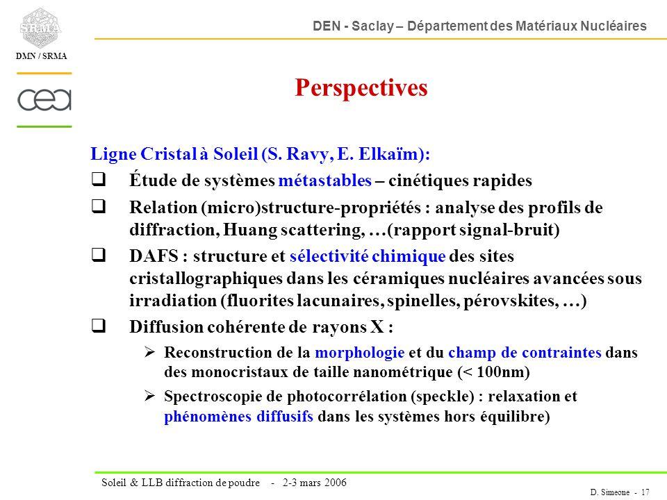 Perspectives Ligne Cristal à Soleil (S. Ravy, E. Elkaïm):