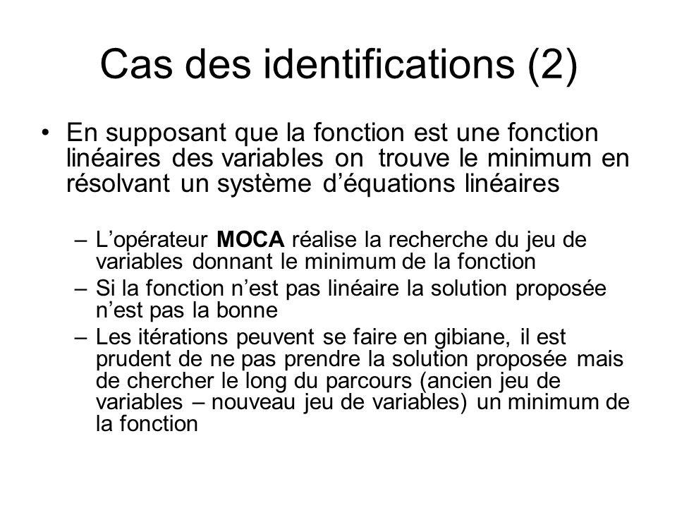 Cas des identifications (2)