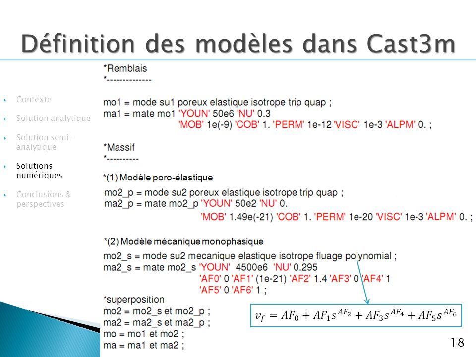 Définition des modèles dans Cast3m