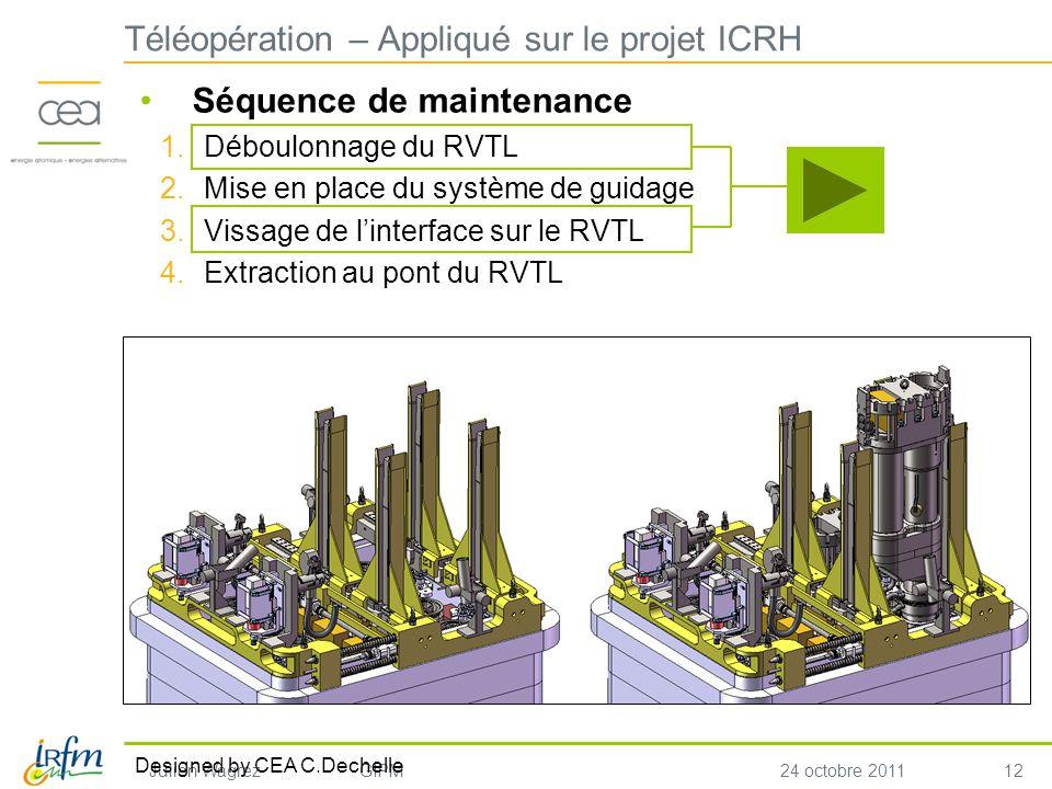 Téléopération – Appliqué sur le projet ICRH