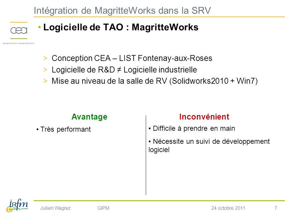 Intégration de MagritteWorks dans la SRV