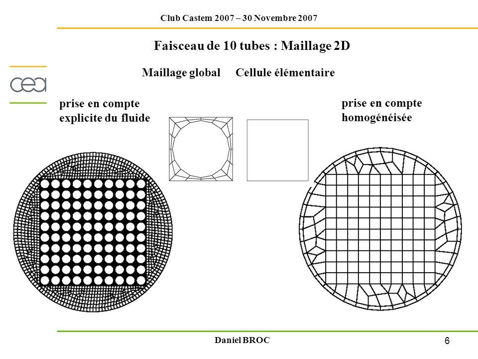 Faisceau de 10 tubes : Maillage 2D