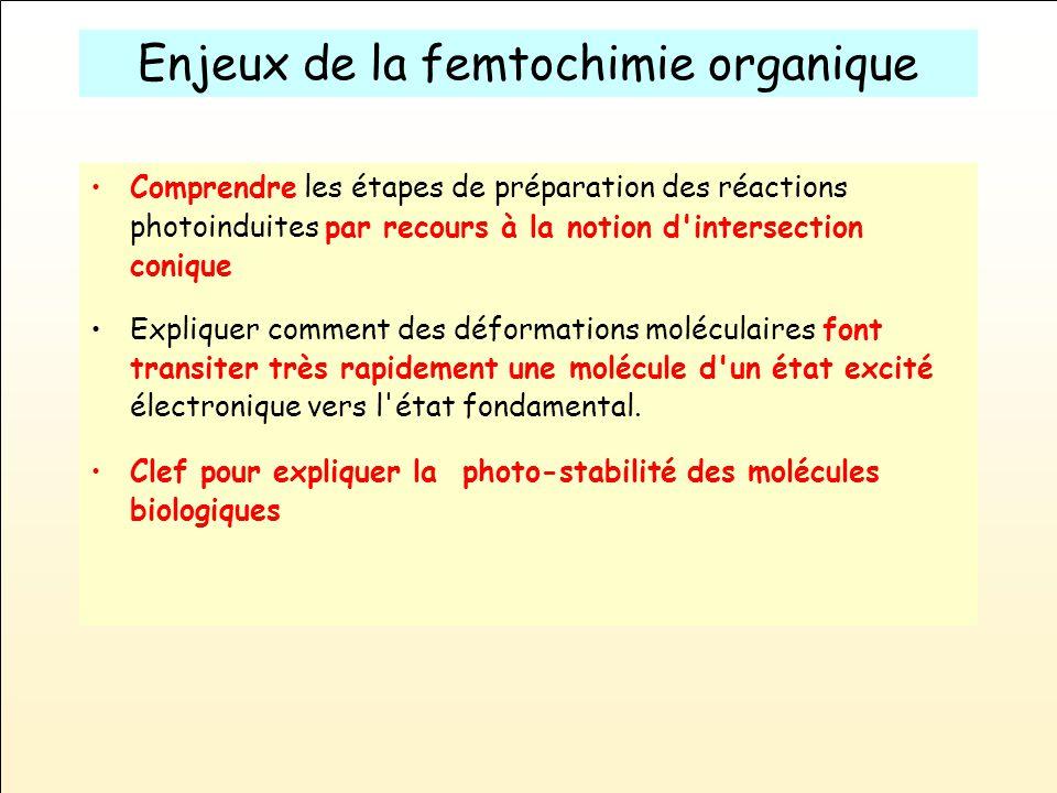 Enjeux de la femtochimie organique