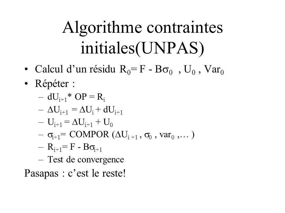 Algorithme contraintes initiales(UNPAS)
