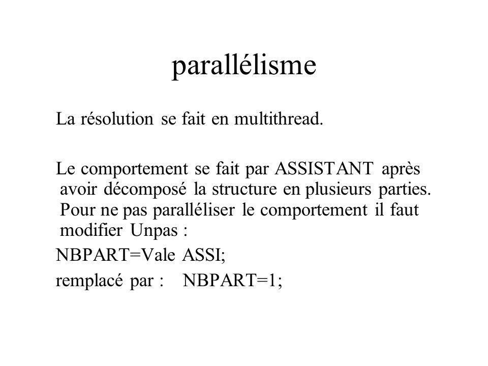 parallélisme La résolution se fait en multithread.