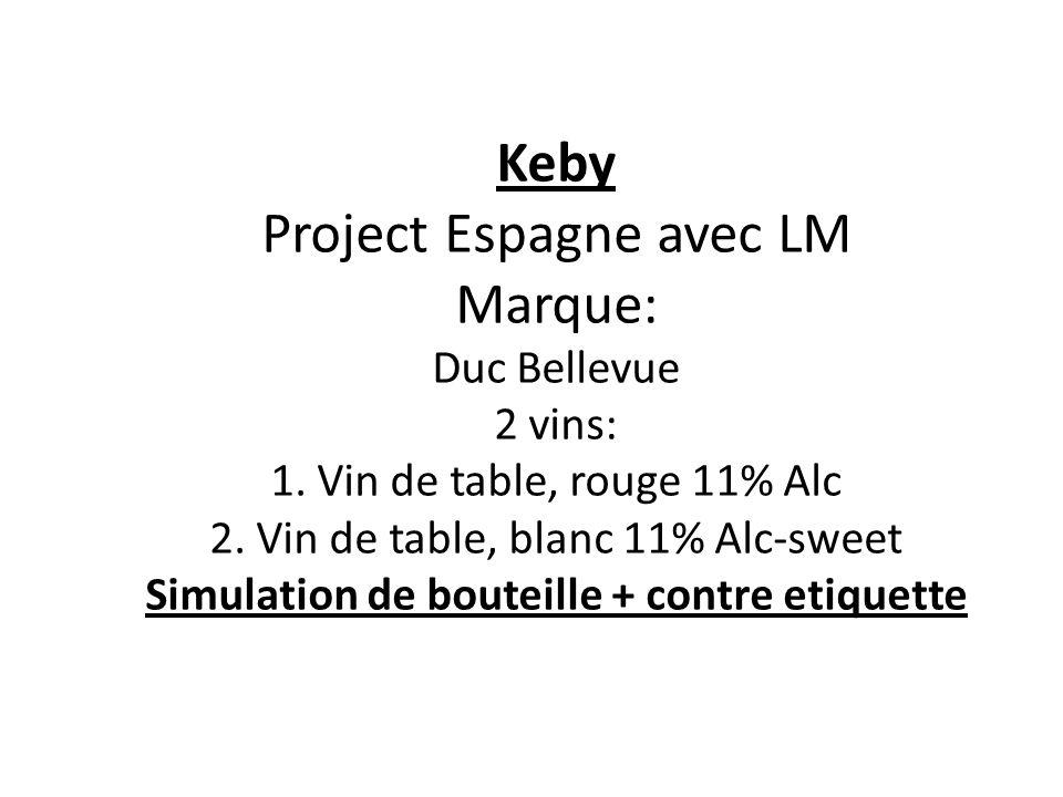 Keby Project Espagne avec LM Marque: Duc Bellevue 2 vins: 1