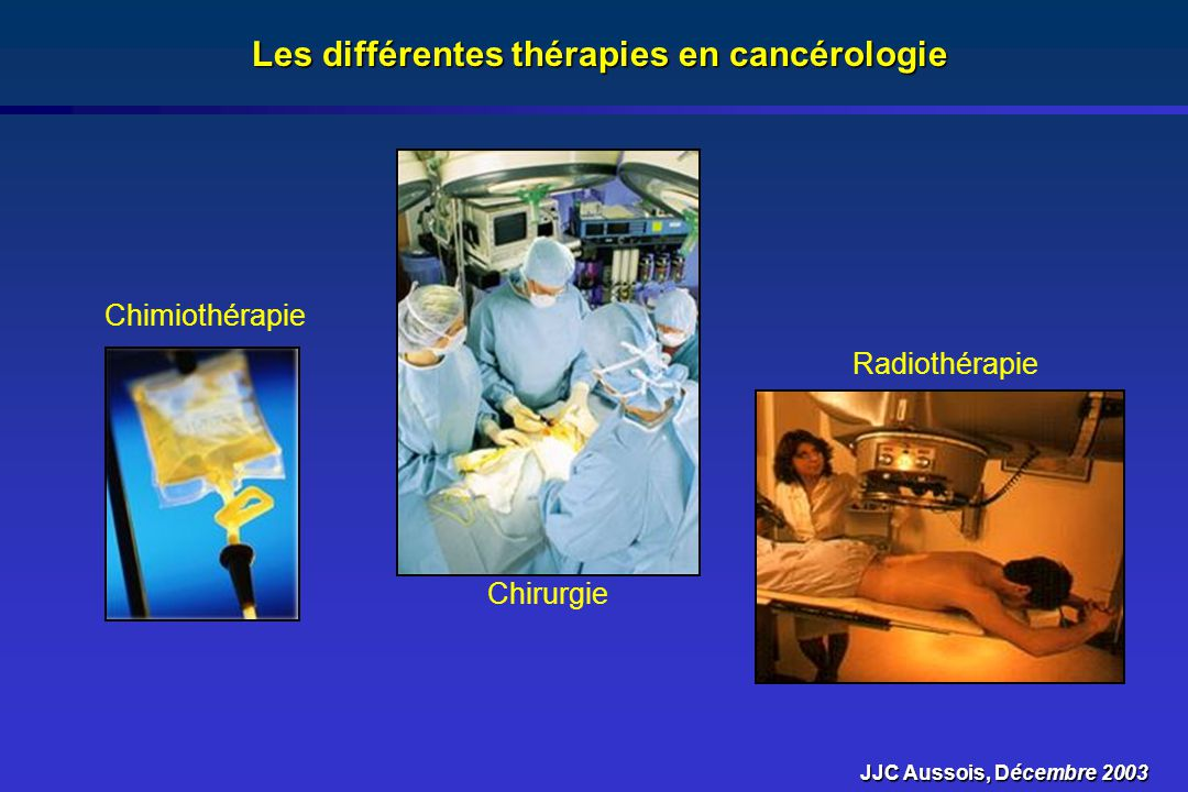 Les différentes thérapies en cancérologie