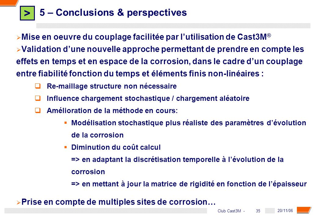 5 – Conclusions & perspectives