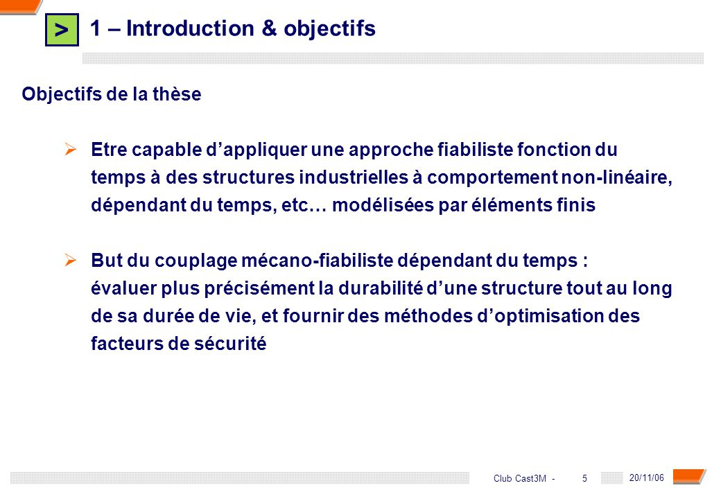 1 – Introduction & objectifs