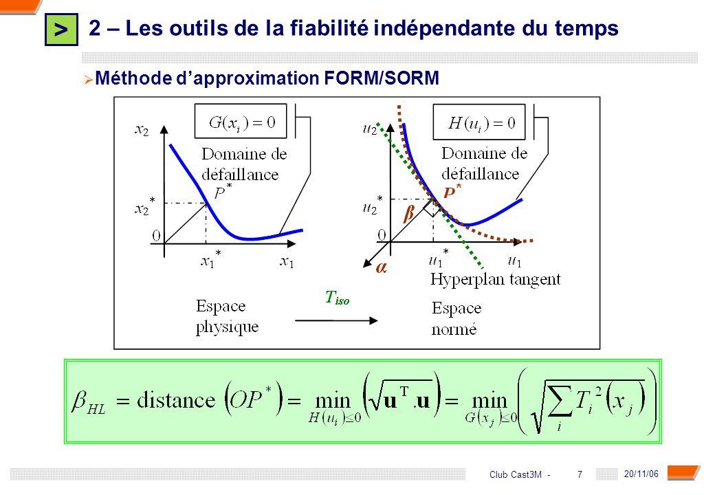2 – Les outils de la fiabilité indépendante du temps