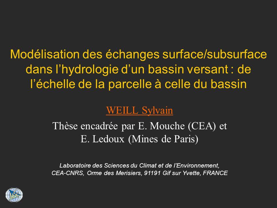 Thèse encadrée par E. Mouche (CEA) et E. Ledoux (Mines de Paris)