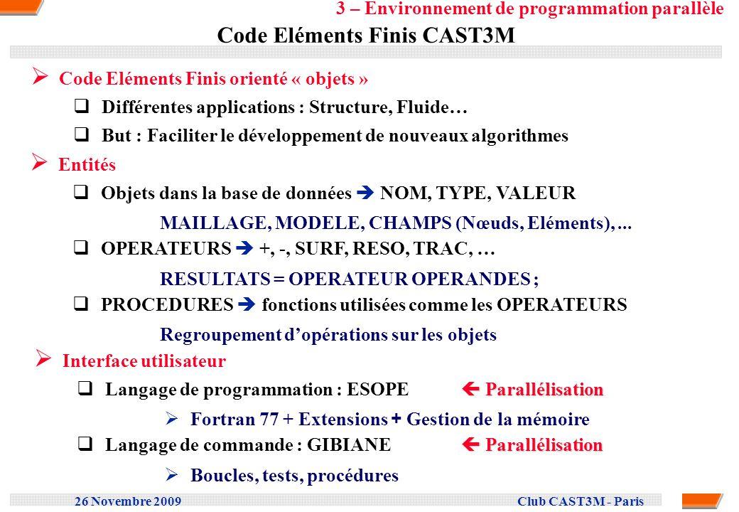 Code Eléments Finis CAST3M