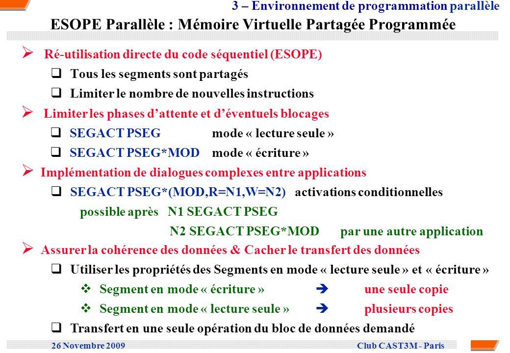 ESOPE Parallèle : Mémoire Virtuelle Partagée Programmée