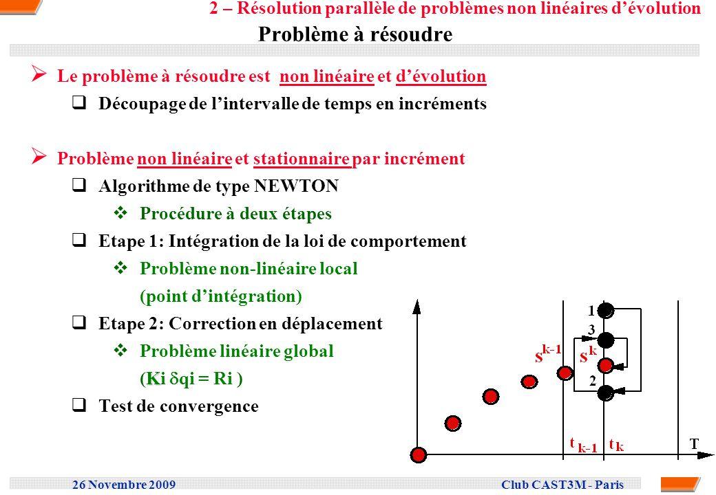 2 – Résolution parallèle de problèmes non linéaires d'évolution