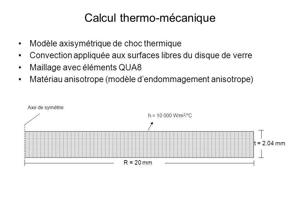 Calcul thermo-mécanique