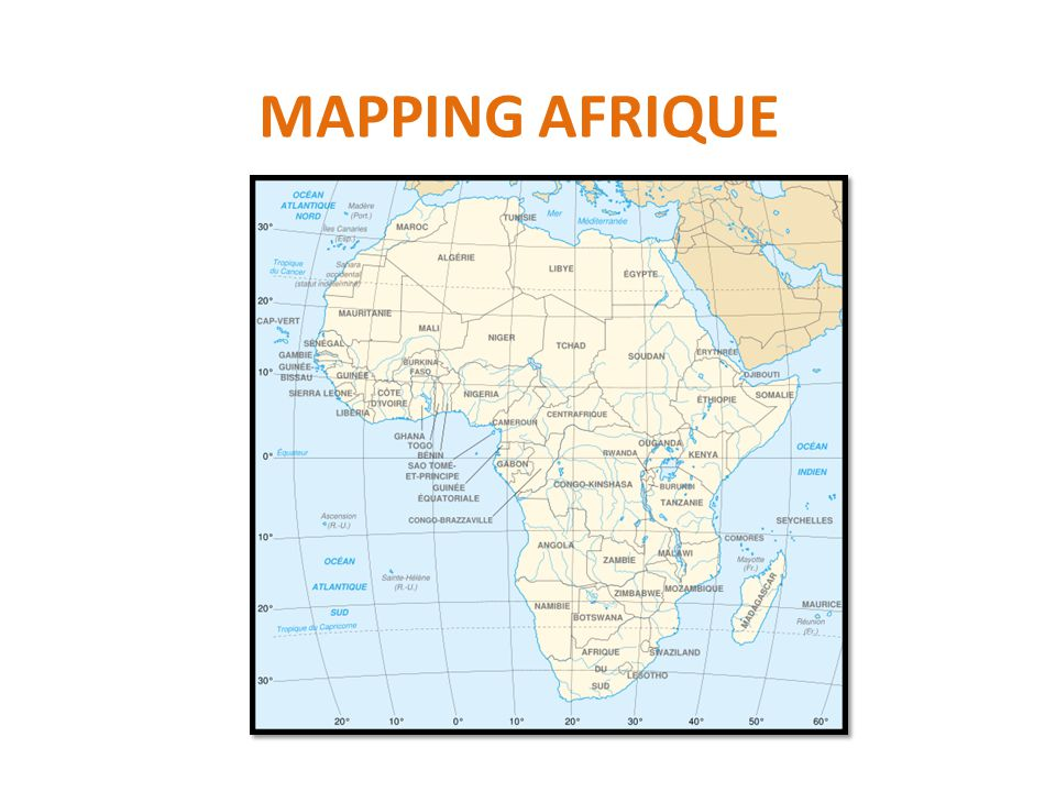 MAPPING AFRIQUE