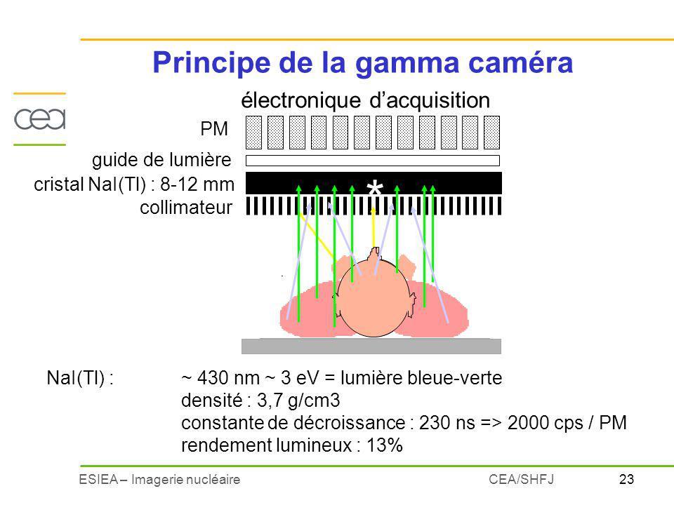 Principe de la gamma caméra
