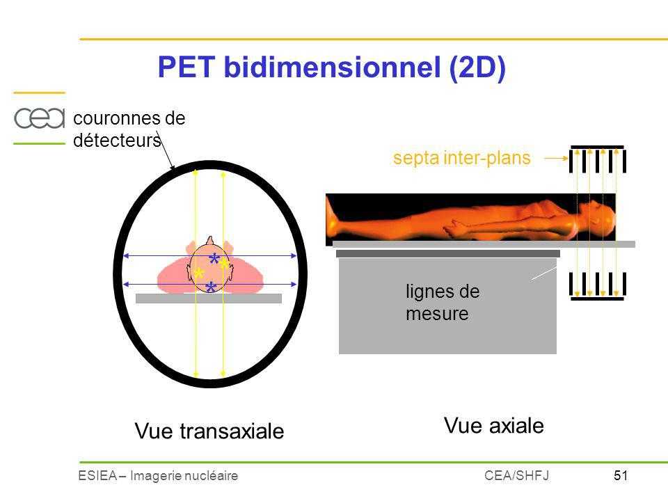 PET bidimensionnel (2D)