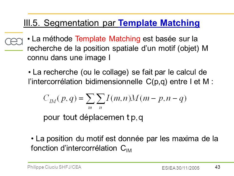 III.5. Segmentation par Template Matching