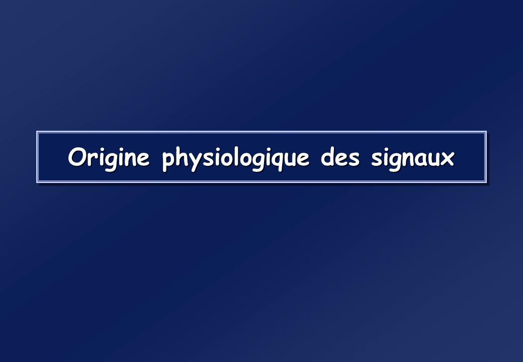 Origine physiologique des signaux
