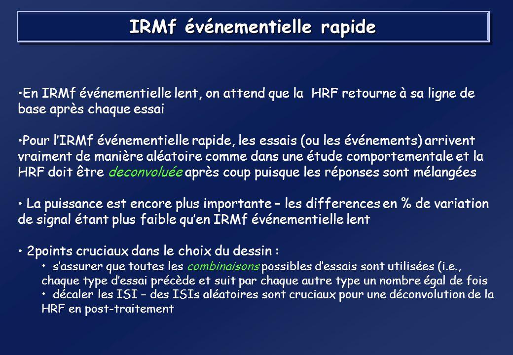 IRMf événementielle rapide