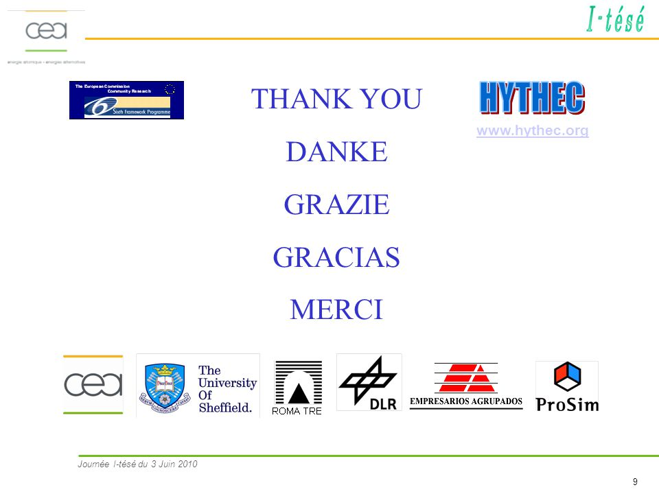 THANK YOU DANKE GRAZIE GRACIAS MERCI HYTHEC www.hythec.org