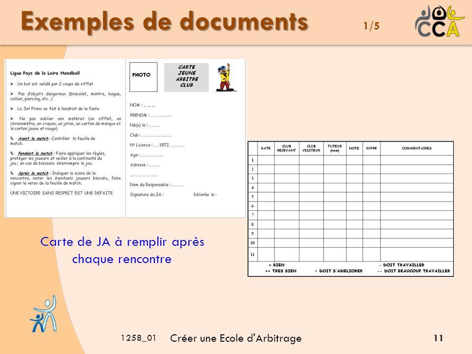 Exemples de documents 1/5