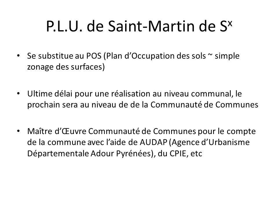 P.L.U. de Saint-Martin de Sx