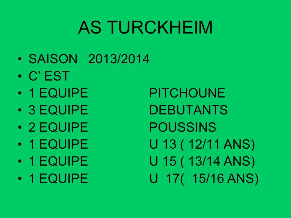 AS TURCKHEIM SAISON 2013/2014 C' EST 1 EQUIPE PITCHOUNE
