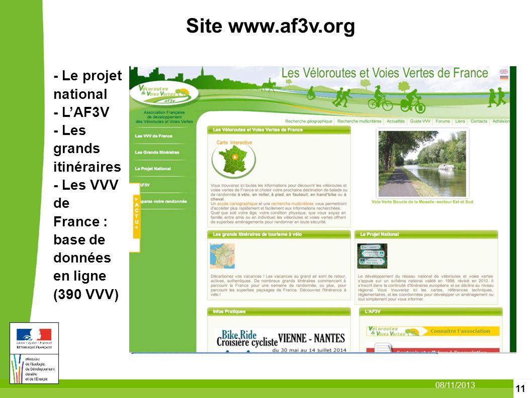 Site www.af3v.org - Le projet national