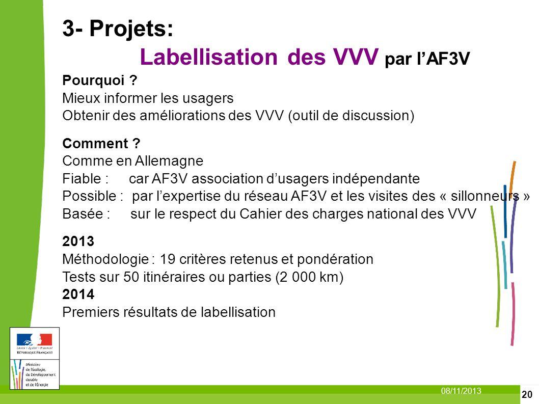 3- Projets: Labellisation des VVV par l'AF3V Pourquoi