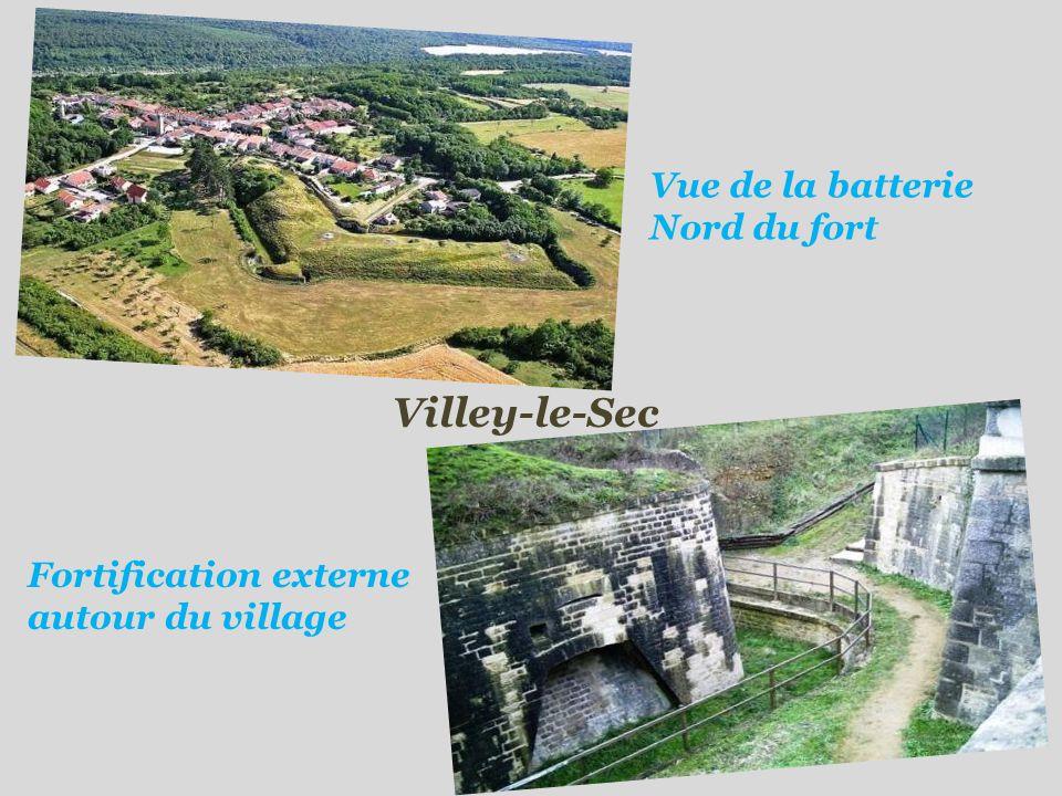 Villey-le-Sec Vue de la batterie Nord du fort